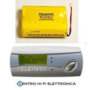 Ricambio Batteria per Telepass Ricaricabile Panasonic BR-ACF2R 6V 2200mAh