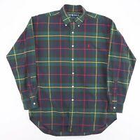 Vintage RALPH LAUREN  Blake Green 00s Long Sleeve Check  Shirt Mens M