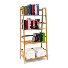 Bücherregal Bambus Wandregal Regal für Bücher Holzregal Bücherschrank Büroregal