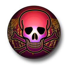 Skull 1 Inch / 25mm Pin Button Badge Halloween Goth Emo Skeleton Scary Dead Punk