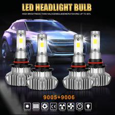 9005 9006 4PCS LED Total 2300W VS 2160W Combo Headlight Kit Bulbs 6000K White US