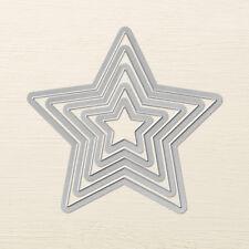 Stampin Up Sizzix Stars Framelits Dies - New - Set of 5 - Retired