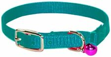 "Hamilton Safety Cat Collar with Bell, Teal, 3/8"" Wide x 12"" Long FREE2DAYSHIP"