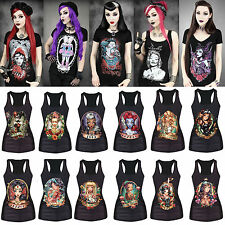 Rock Band Vest Tank Top Women Gothic Print Singlet T-shirt Gypsy Gothic Camisole
