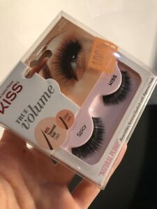 "Kiss Eyelashes True Volume Natural Plump ""Spicy"" 100% Natural Hair Black Plump"