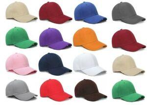 12 Pcs Baseball Caps Plain Hook-N-Loop Adjustable Solid Color Hat Polo Style Cap