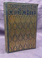 Richard Dehmel Hundert Ausgewählte Gedichte 1909 Belletristik Poesie Lyrik js