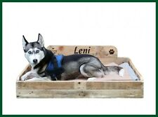 Einführungspreis: MCD Hundebett Holz UNIKAT Hundebetten Paletten Hunde groß -L
