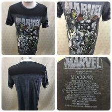 Marvel Legends Black and Gray M Medium T Shirt Super Heroes, Comics     Dr4