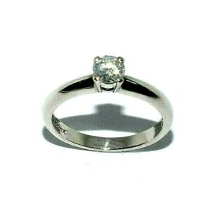 Ladies beautiful platinum engagement ring set with a solitaire diamond UK size M