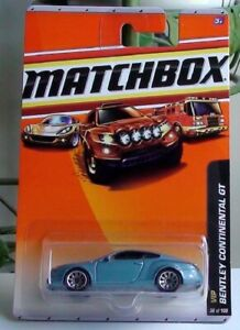 BENTLEY CONTINENTAL GT BLUE VIP #36 OF 100 MATCHBOX DIECAST SCALE 1/64 NEW