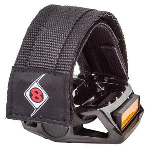 Origin8 Pro Grip II Double Straps BLACK for Platform Pedals Fixed Gear BMX Bike