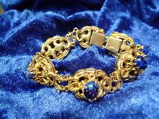 edles ,altes Armband__ Silber vergoldet__mit blauen Steine___40,4g_!
