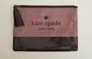 Kate Spade Women's Large Leather Tassel Pouch WLRU5328 Deep Plum