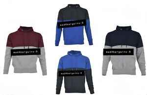 Unisex Two Toned Hoodies Mens Adults Pullover Jumper Warm Classic Casual Wear