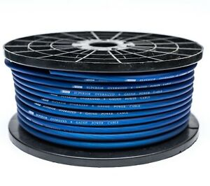 5 METRE 8 AWG OFC OVERSIZED 10MM² 8 GAUGE BLUE POWER CABLE 5M HIGH QUALITY WIRE