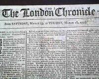 1777 Revolutionary War Newspaper - America Colonies - JEWISH Jews - re. Jew Bill
