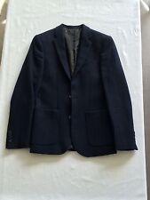 Veste blazer ASOS taille EU46 UK36 bleu marine 100% laine TBE