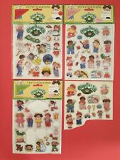 Vintage 1983 Cabbage Patch Kids Puffy Stickers 4 Sheets, Scrapbooking Collectors