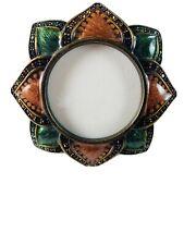 Vintage Jay Strongwater Flower Enamel Swarovski Crystals Picture Frame