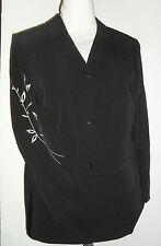 Damenjacke Blazer  Gr.42  schwarz  Ärmel mit Stickerei     neu