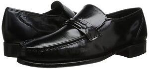 Florsheim COMO Mens Black Genuine Leather Slip On Loafers Dress Formal Shoes