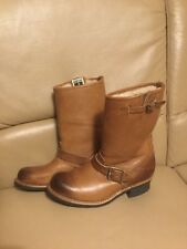 FRYE BROWN LEATHER SHEEPSKIN LINING OIL RESISTANT CALF BOOTS US SIZE 8 UK SIZE 5