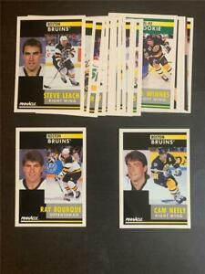 1991/92 Pinnacle Boston Bruins Team Set 19 Cards