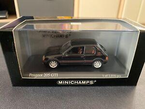 1/43 Minichamps Peugeot 205 GTI Black 1990