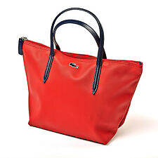 Lacoste Designer Womens Red Bag - Ladies Tote Shopper Handbag - BRAND NEW