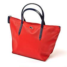 Lacoste Designer Da Donna Rosso Borsa-Shopper Donna Tote Handbag | Nuovo di Zecca