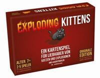 Spielzeug Asmodee Kartenspiele Exploding Kittens Kinderspiele Illustrationen NEU