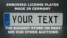 Lithuania Lithuanian Euro European License Plate Number Plate Embossed Alu New