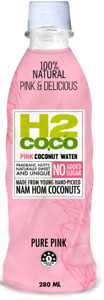 H2 Coco Pink Coconut Water No Sugar Added 9.5 oz ( Pack of 12 )