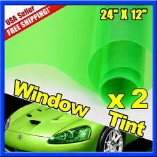 "2x Uncut 12"" x 24"" Car Motor SUV Truck Headlight Fog Light Tint Film Sheet Wrap"