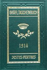 1914 Gotha Genealogie Gräfliche Häuser 87 Genealogisches Taschenbuch