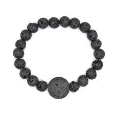 Black Lava Rock Buddha Bracelet, Jewelry for Men, Mens Beaded Men Bracelet