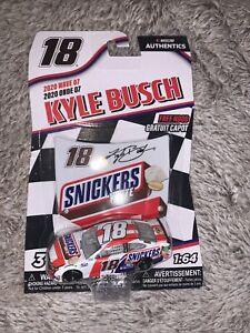 Kyle Busch #18 NASCAR Authentics Snickers White 2020 Wave 7 1/64 Die-Cast