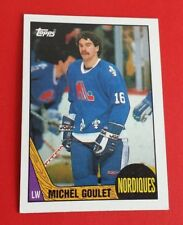 1987/88 Topps Hockey Michel Goulet Card #77***Quebec Nordiques***