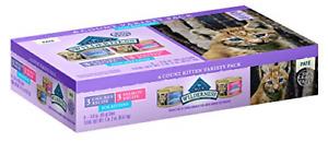 Blue Wilderness Kitten Grain-Free Chicken & Salmon Variety Pack Wet Cat Food ...