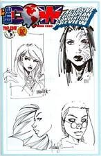 THE COW PREVIEW SIGNED MICHAEL TURNER SKETCH x2 FATHOM TOMB RAIDER OA JAY COA