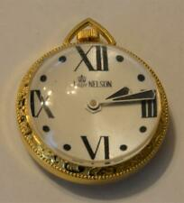 VTG Lady Nelson Swiss Made Wind Up Mechanical Pendant Gold tone Lupa Watch
