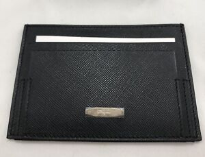 New Salvatore Ferragamo Black  Credit Card/Business Card Case /Wallet