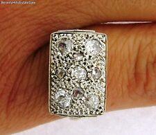 Antique Art Deco 18k Yellow Gold Diamonds Ring
