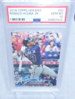 2018 Topps Holiday Baseball Ronald Acuna Jr. Rookie Card #50 PSA Gem Mint 10 HOT