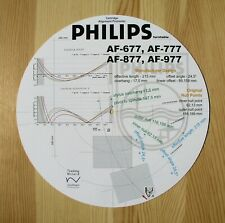 Philips AF-677/777/877/977 Custom Designed Tonearm Stylus Alignment Protractor