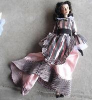 """RARE Franklin Mint GWTW Vinyl Scarlett Skin Tone Prototype Doll 15"""" Tall"""