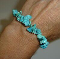Natural Turquoise Gemstone Bracelet Crystal Healing Reiki 14 grams