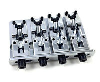Schaller Chrome 2000 Series Adjustable Top Load 4-string Bass Bridge BB-3530-010