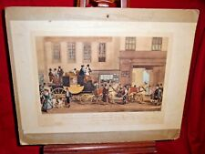 Antique Color Engraving - The Blenheim Leaving The Star Hotel Oxford FJ Havell